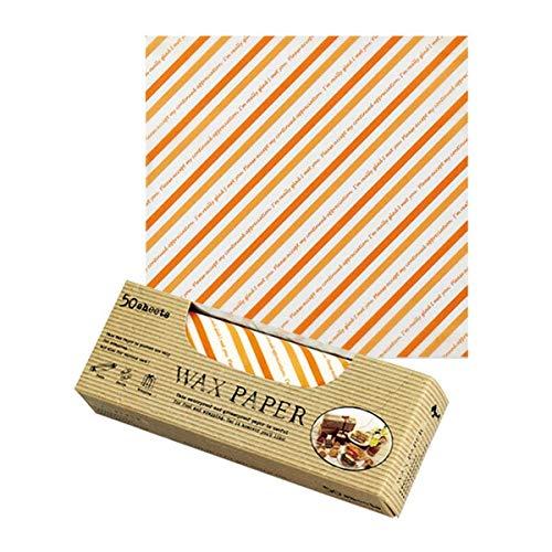 Pastreet(ペーストリート)『ワックスペーパー S(オレンジストライプ)』