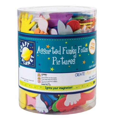 Craft Planet CPT 80578 Foam Shapes, Multicolore