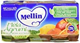 Mellin Omogeneizzato Mela Agrumi - 24 Vasetti da 100 gr