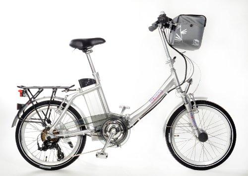 Movena AFH20 Der Klassiker Elektrofahrrad 20 Zoll Pedelec Faltrad Klapprad E-Bike, Farbe Silber: 36 V 15 AH 540 Wh AKKU Alu Aluminium Rahmen