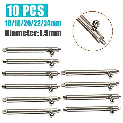 10st 1.5mm Diameter Horloge Pin Pepair Gereedschap & Kits Quick Release horlogebandje veerstaafjes Pins 16MM 18MM 20MM 22MM 24MM,24mm