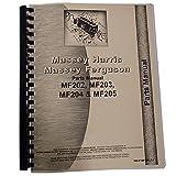 Parts Manual Fits Massey Ferguson MF 202 203 204 205 Tractor