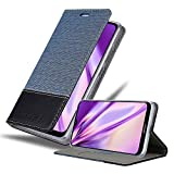 Cadorabo Hülle für Nokia 7.2 in DUNKEL BLAU SCHWARZ - Handyhülle mit Magnetverschluss, Standfunktion & Kartenfach - Hülle Cover Schutzhülle Etui Tasche Book Klapp Style