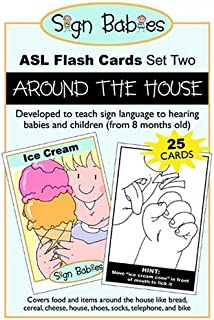 Sign Babies ASL Flash Cards, Set Two: Around the House