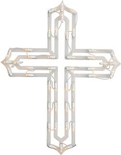 Miles Kimball Lighted Cross Window Decoration