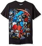 Mens Captain America Wing Head T Shirt Black Medium - Chest 40-42in Black
