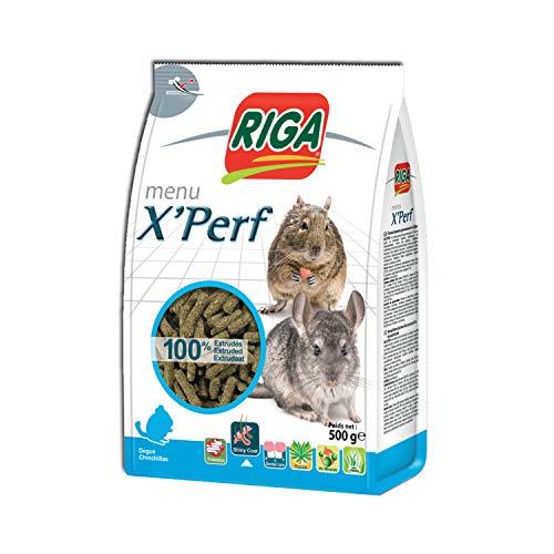 Riga Nourriture Menu X'Perf pour Chinchillas 500 g