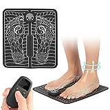 EMS Masaje de pies, Masaje de pies Alivia los músculos de la sangre Masajeador de pies Cojín Estimulador de pies Máquina recargable LCD portátil Estera de piernas Remodelación