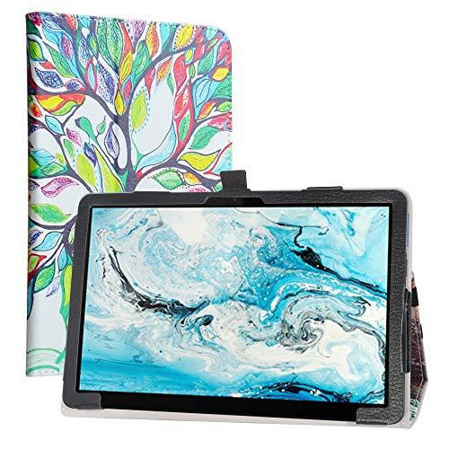 """LiuShan Kompatibel mit Lenovo Chromebook Duet 2-in-1 hülle, Folding PU Leder Tasche Hülle mit Ständer für 10.1\"""" Lenovo IdeaPad Duet Chromebook CT-X636 / Lenovo Chromebook Duet 2-in-1,Love Tree"""