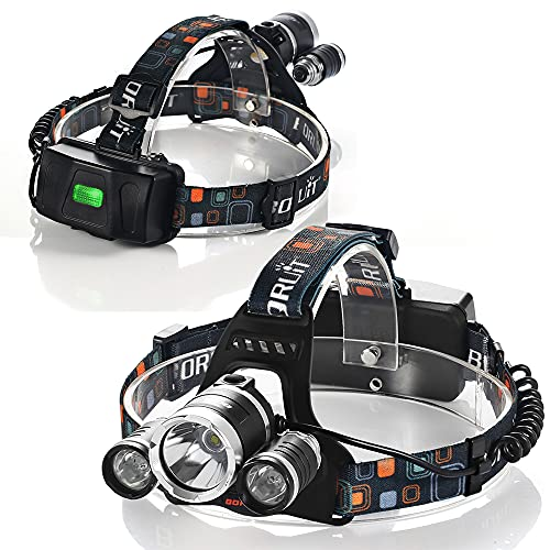 Ultra-Bright Headlight 4 Modes ipx4 Waterproof 6000 max Lumens Adjustable...