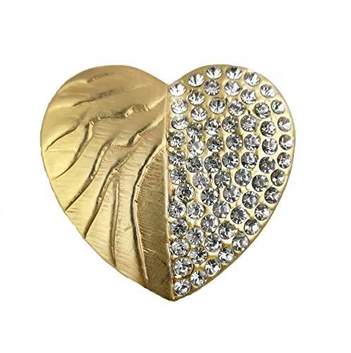 Treend24 Dames magneet broche hart goud sjaal clip bekleding magnetische broche poncho zakken steel textiel sieraden uil hart ster