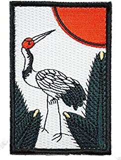 [Japan Import] 100% Embroidery Verclo Patches Japanese Playing Cards Hanafuda A0275