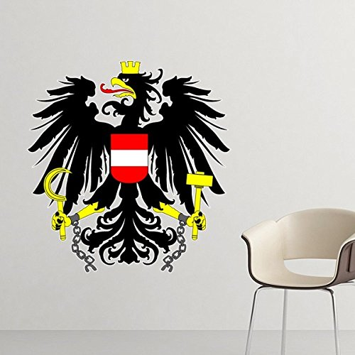 DIYthinker Österreich National Emblem Land Symbol Mark Muster entfernbare Wand-Aufkleber-Kunst-Abziehbilder Wand-DIY Tapete für Zimmer Aufkleber 80cm