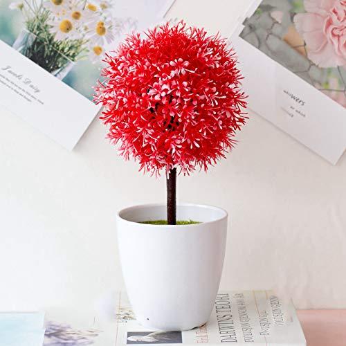 TODGLG Bonsai Artificial 1 Ball of Hyacinth, Decorative Green Plants for Gardens, Porches, Flower Solids, Windows, Decoration,E