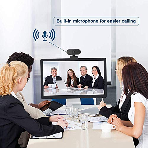 Agedate Webcam 1080P PC HD con Micrófono Estéreo Cubierta de Privacidad USB Plug and Play Cámara Web Enfoque automático, Corrección de exposición, para Videollamadas, Windows miniatura