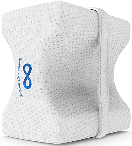 Everlasting Comfort Knee Pillow for Sleeping - Hip, Lower Back, and Sciatic Nerve Pain Relief