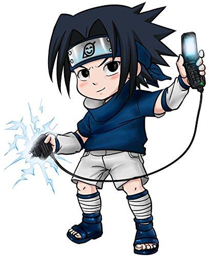 T-Shirt Noir Naruto parodique Sasuke Uchiwa : Full Battery No Jutsu (Parodie Naruto)