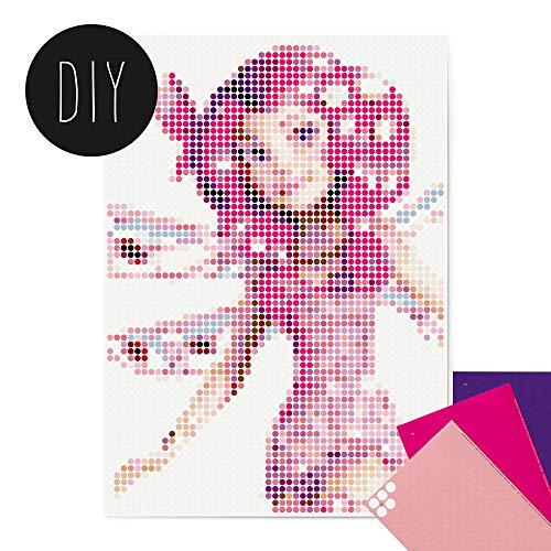 dot on Mia and Me DIY Poster - 50 x 70 cm – Bastelset für Kinder und Erwachsene - Bilder mit Klebepunkten - Stickerset Mosaik Set - Aufkleber Basteln Selbermachen DIY - Mia Fee Elfe