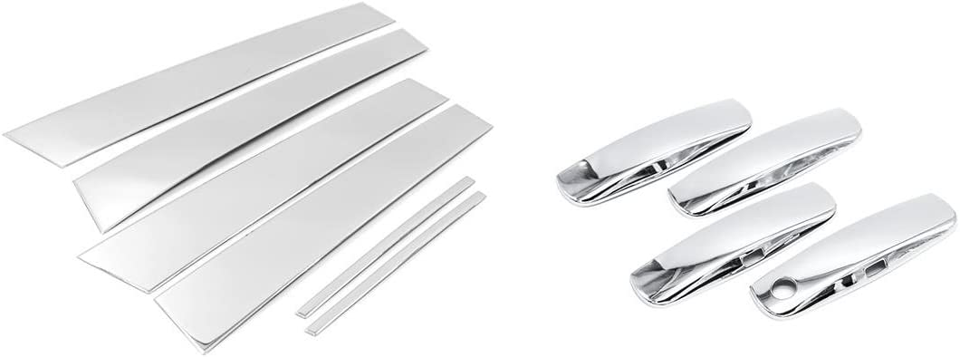 Sizver Chrome Stainless Steel Pillar Handle Accent+Door Posts wholesale Co Dallas Mall