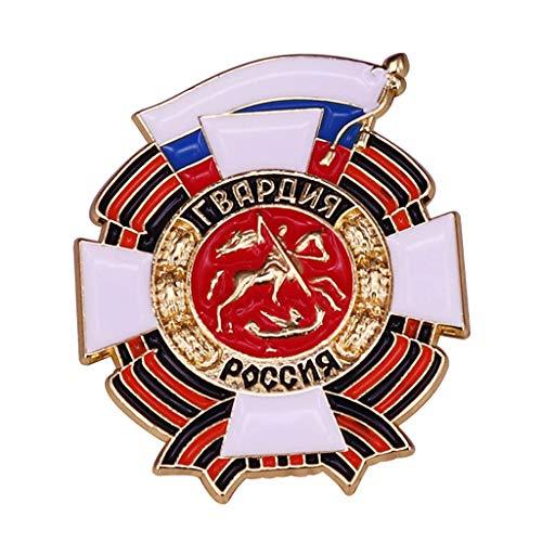 JXS Insignia Militar Rusa, réplica de Broche de la Medalla de Las Fuerzas Especiales Rusas, Insignia de Cobre, colección de Fans Militares 4pcs