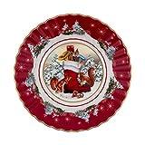 Villeroy & Boch - Toy's Fantasy Schale klein, Stiefel, dekorative Schale aus Premium Porzellan, 16 x 16 x 3 cm, bunt/rot/weiß