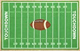 Furnish My Place 705 Solid Football 6'7'x9'2' Dalyn Rug, All Star Football Ground, Play Area Rug for Kids, Football Field Ground Rectangle, Anti Skid Rubber Backing, Green