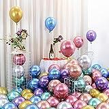 Globos metálicos, 100 piezas de globos de látex...