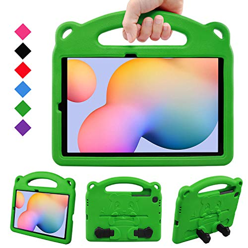 BelleStyle Kids Case for Galaxy Tab S6 Lite 10.4 2020, Shockproof Protective Case Kids Friendly Handle Stand Panda Cover for Samsung Galaxy Tab S6 Lite 10.4 Inch SM-P610/P615 2020 Released, Green