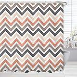 Chevron Design Shower Curtains, Modern Striped Zig Zag