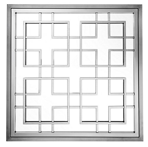 Casa Padrino Luxus Designer Wandspiegel Black Nickel Finish 100 x 100 cm - Luxury Hotel Collection
