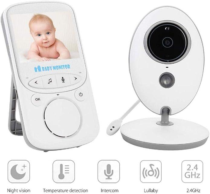 Webcam el monitor sin hilos video del bebé con Noche de la cámara digital de la temperatura controlar la visión de largo alcance canciones de cuna y de alta capacidad de la batería para la Seguridad