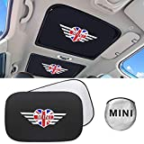 2-Pack Retractable Sunroof Sun Shade for Car Accessories Interior Union Jack Pattern Sunshade Fit for Mini Cooper Clubman Countryman Including S Models R56/F56/F54/R55/F55/R60