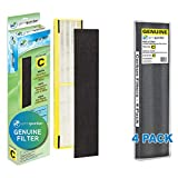 GermGuardian Air Purifier Filter FLT5000 Genuine HEPA Replacement Filter with Guardian Technologies GermGuardian Air Purifier GENUINE Carbon Filter 4-Pack