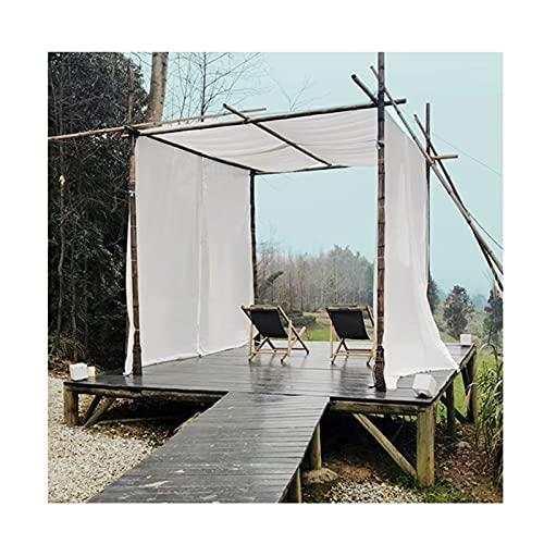 LJIANW Vela de Sombra Toldo Vela, Pabellón Cortina Exterior Decoración Gasa Sombrilla Terraza A Prueba De Viento Protección De La Privacidad, (Color : White, Size : 1x6m)