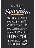 アメリカ雑貨 ブリキ看板 You Are My Sunshine ウォールアート ヴィンテージ風 店舗装飾 壁面ディスプレー サインプレート インテリア ガレージ ポスター ブリキ 看板 おしゃれ