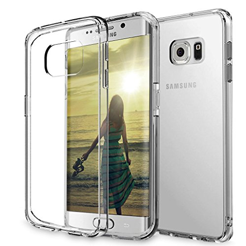 [ Storm Buy ] [ Compatible With Samsung Galaxy S7 Edge ] Transparent Crystal Clear Tpu Protective Soft Gel Back Thin Phone Case