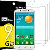 NEW'C 3 Stück, Schutzfolie Panzerglas für Alcatel One Touch Pop S7, Frei von Kratzern, 9H Festigkeit, HD Bildschirmschutzfolie, 0.33mm Ultra-klar, Ultrawiderstandsfähig