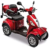 Rolektro E-Quad 15 V.3 Rot Lithium Akku - Elektromobil 4-Rad - 95km Reichweite - 1000W Elektroroller mit Zulassung