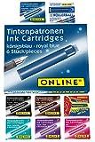 Online 17034 - Paquete de recambios de tinta para pluma (9 cajas x 6 unidades), varios colores