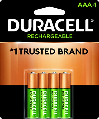Duracell - Rechargeable AAA Batteries - long lasting, all-purpose Triple A battery for household and...