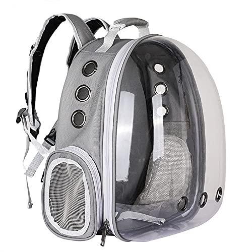 Bolsa portátil para Mascotas Bolsa Transpirable para Gatos Mochila Viaje al Aire Libre para Gatos y Perros Espacio Transparente Mochila para...