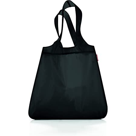 reisenthel AT7003 mini maxi shopper black – Einkaufsbeutel mit 15l Volumen bei winzigem Packmaß – B 43,5 x H 63 x T 6 cm