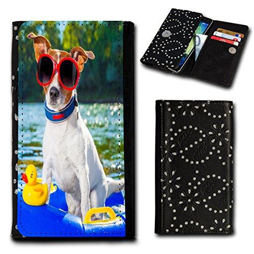 sw-mobile-shop Strass Book Style Flip Handy Tasche Case Schutz Hülle Foto Schale Motiv Etui für Medion Life E5001 - Flip SU3 Design12