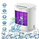 Mobile Klimagerät Klimaanlage Luftkühler tragbar Ventilator Luftbefeuchtung,7 verschiedene Farben,für Schlafzimmer Wohnzimmer Büro Reise