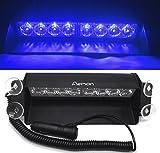 Aeman 12V 8 LED Voiture Intérieur de haute intensité à Bleu LED feux de penetrations - Lampe Urgence Flash...