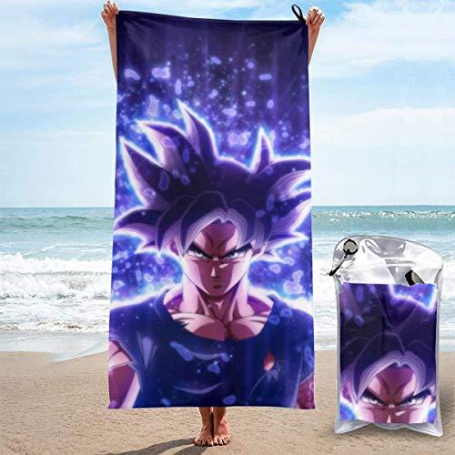 Toalla de playa Toalla de baño Anime Dragon Ball Super Son Goku Toalla de playa Toallas...