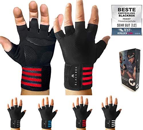Blackro Trainingshandschoenen, vergelijkbaar winnaar fitnesshandschoenen, met polssteun, heren en dames, handschoenen voor krachtsport, gym gloves fitnesshandschoenen, bodybuilding