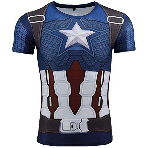 Towel Rings Marvel Camiseta De Capitán América Original Super Héroe Avengers para Hombre Captain America T-Shirt