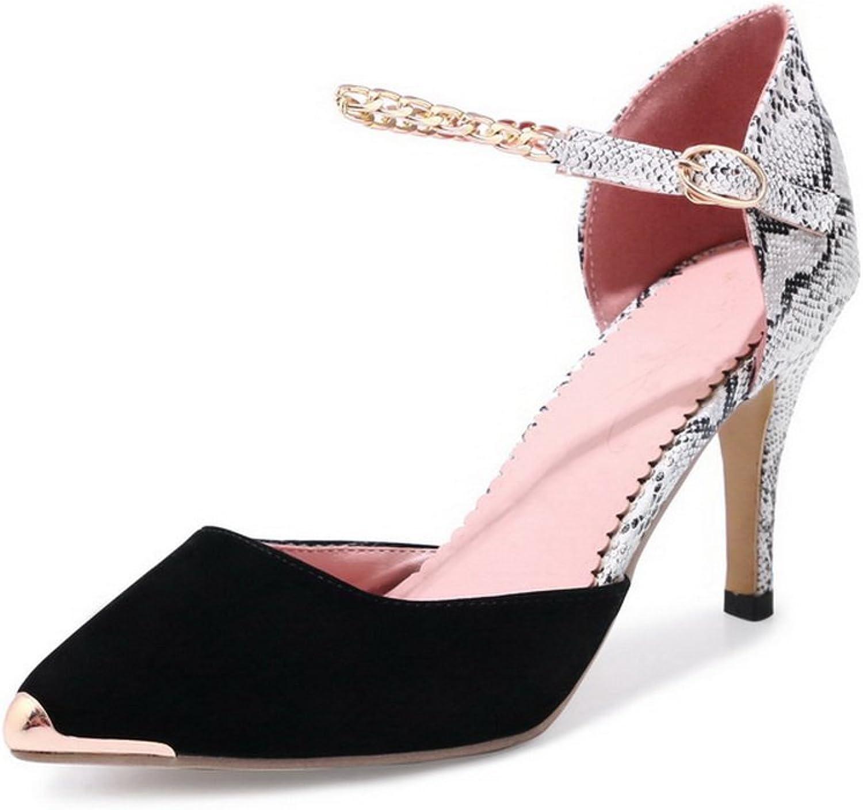 BalaMasa Womens Sandals Closed-Toe High-Heel Water_Resistant Light-Weight Nubuck Urethane Sandals ASL04566