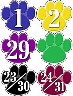 Teacher Created Resources Colorful Paw Prints Calendar Days (5240)